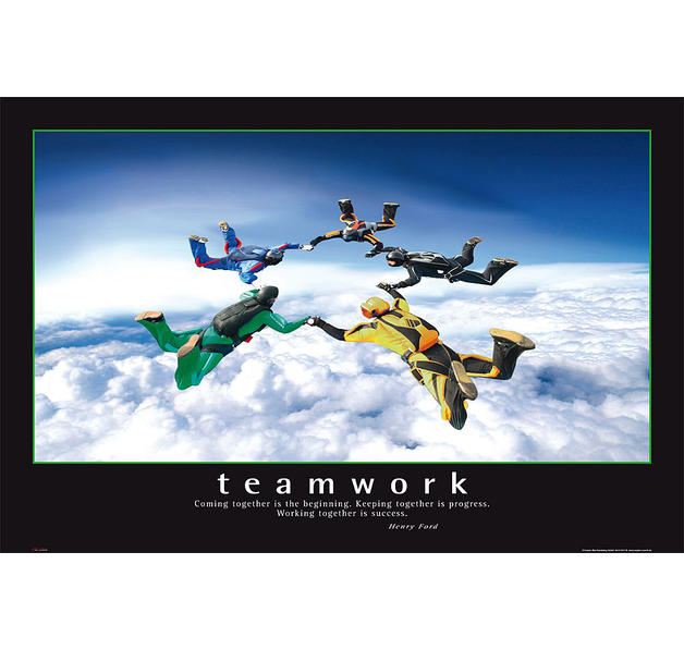Teamwork Poster Coming together ... - Posters buy now in the shop ...