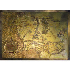 The Hobbit Lord Of The Rings Map of Middle Earth