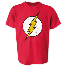 The Flash T-Shirt Cracked Logo