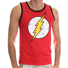 The Flash Tanktop Cracked Logo