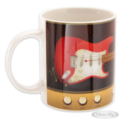 Tasse E- Gitarre rot Design by Ted Smith
