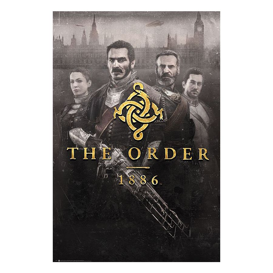 The order 1886 poster cover poster gro format jetzt im for The order 1886 shirt