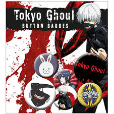 "Tokyo Ghoul ""Characters and Logos"" Button Set"
