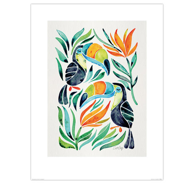 Tropical Toucans Kunstdruck
