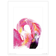 Tropical Flamingo Kunstdruck