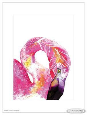 Tropical Flamingo Kunstdruck Sofie Rolfsdotter