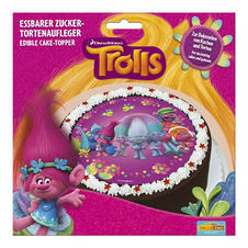 Trolls Edible Sugar Cake Decoration -