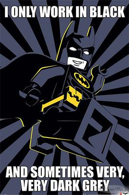 The LEGO Batman Movie I Only Work In Black | Kinderzimmer > Spielzeuge > Sonstige Spielzeuge