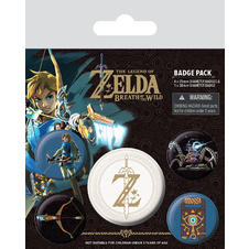 The Legend of Zelda Button Set -