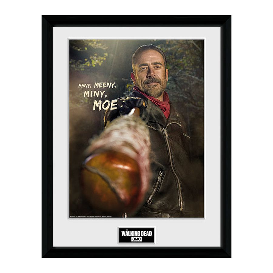 the walking dead collector print negan eeny meeny 30x40 cm. Black Bedroom Furniture Sets. Home Design Ideas