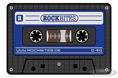 Tape Mousepad blau Musikkassette - broschei