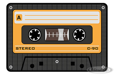 Tape Mousepad gelb Musikkassette - broschei