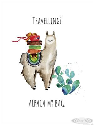 Travelling? Alpaca My Bag Kunstdruck, Janette