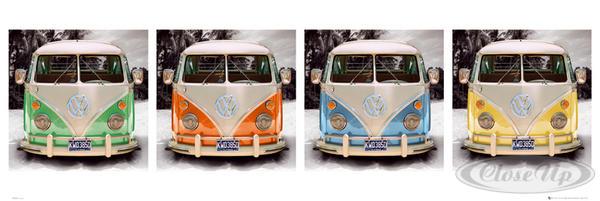 vw transporter poster california camper. Black Bedroom Furniture Sets. Home Design Ideas