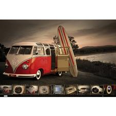 VW Transporter Poster Split