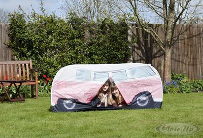 VW Bulli Spiele-Wurfzelt Pink für Kinder
