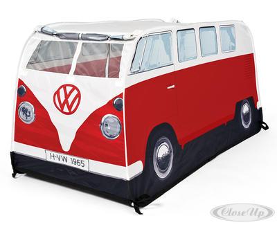 VW Bulli Spiele-Wurfzelt Rot für Kinder