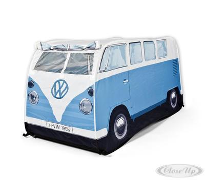 VW Bulli Spiele-Wurfzelt Blau für Kinder