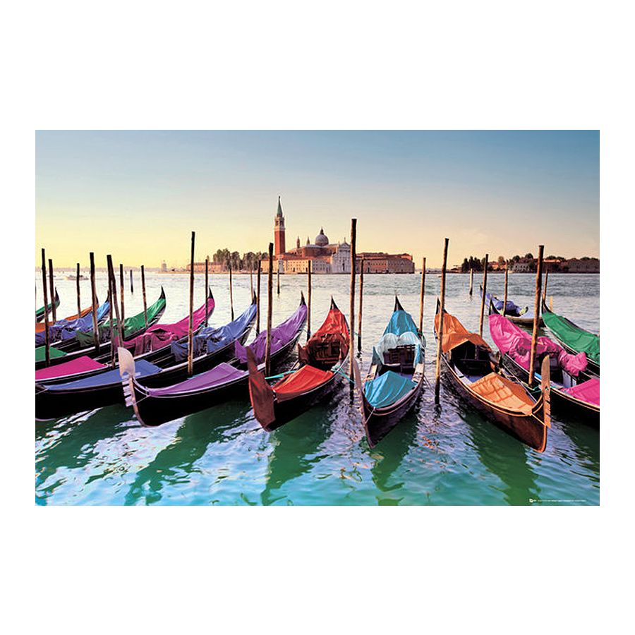 venedig poster gondeln gondolas poster gro format jetzt im shop bestellen close up gmbh. Black Bedroom Furniture Sets. Home Design Ideas