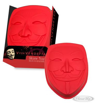 V for Vendetta Silikonbackform Guy Fawkes Maske