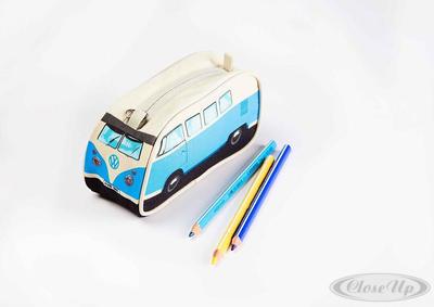 VW Bulli Stiftemäppchen Blau Pencil Case