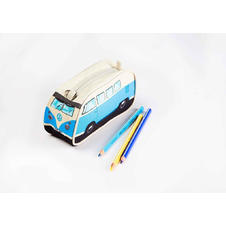 VW Bulli Pencil Case Blue