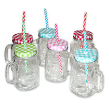 """Vintage Style"" 6pc Glass Set"