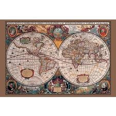 World Map 17th Century Poster