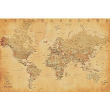 WORLD MAP VINTAGE STYLE