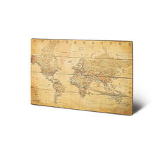 World map Antic Wooden Wall