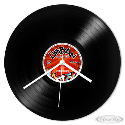 Wanduhr Schallplatte Urban Grooves Retro Record Clock