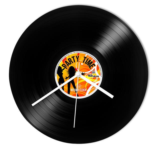 Wanduhr schallplatte party time retro record clock uhren wecker jetzt im shop bestellen close - Wanduhr schallplatte ...