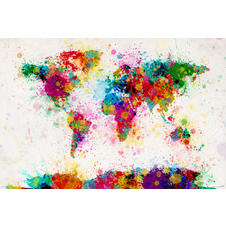 World Map Paint Drop Poster