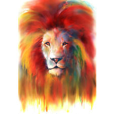 Mini watercolour art print - Lion