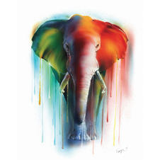Watercolours Mini Art Print - Elephant