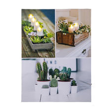 Photo printed on linen with LED -