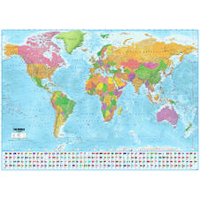World Map with flags XXL Poster -