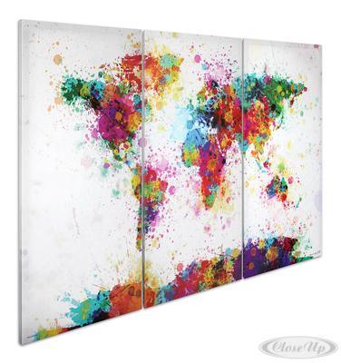 Weltkarte Watercolor Splash Aquarell - Michael ...