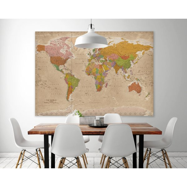 weltkarte xxl poster vintage 2018 maps in minutes xxl poster jetzt im shop bestellen close. Black Bedroom Furniture Sets. Home Design Ideas