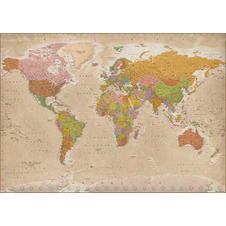 World map XXL Poster Vintage