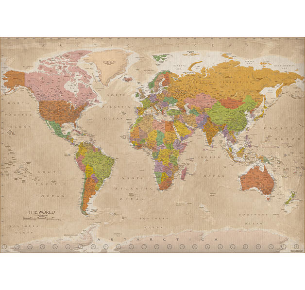 weltkarte xxl poster vintage 2017 maps in minutes xxl poster jetzt im shop bestellen close. Black Bedroom Furniture Sets. Home Design Ideas