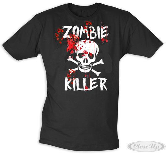 zombie killer t shirt gr l. Black Bedroom Furniture Sets. Home Design Ideas