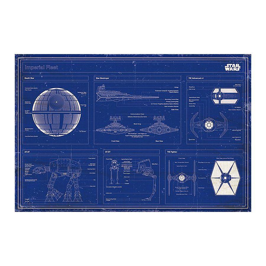 Star Wars Poster Imperial Fleet Blaupause - Poster Großformat jetzt ...