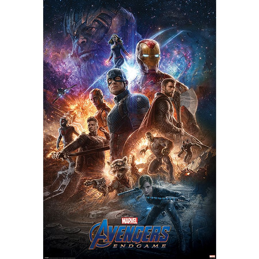 Avengers Endgame Poster From The Ashes Premium Filmplakat Close Up
