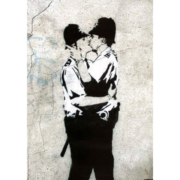 Banksy Poster Kissing