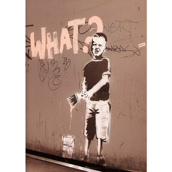 Banksy Poster What? Graffiti