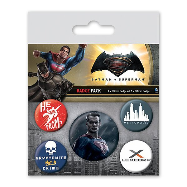 Batman vs Superman Button Set