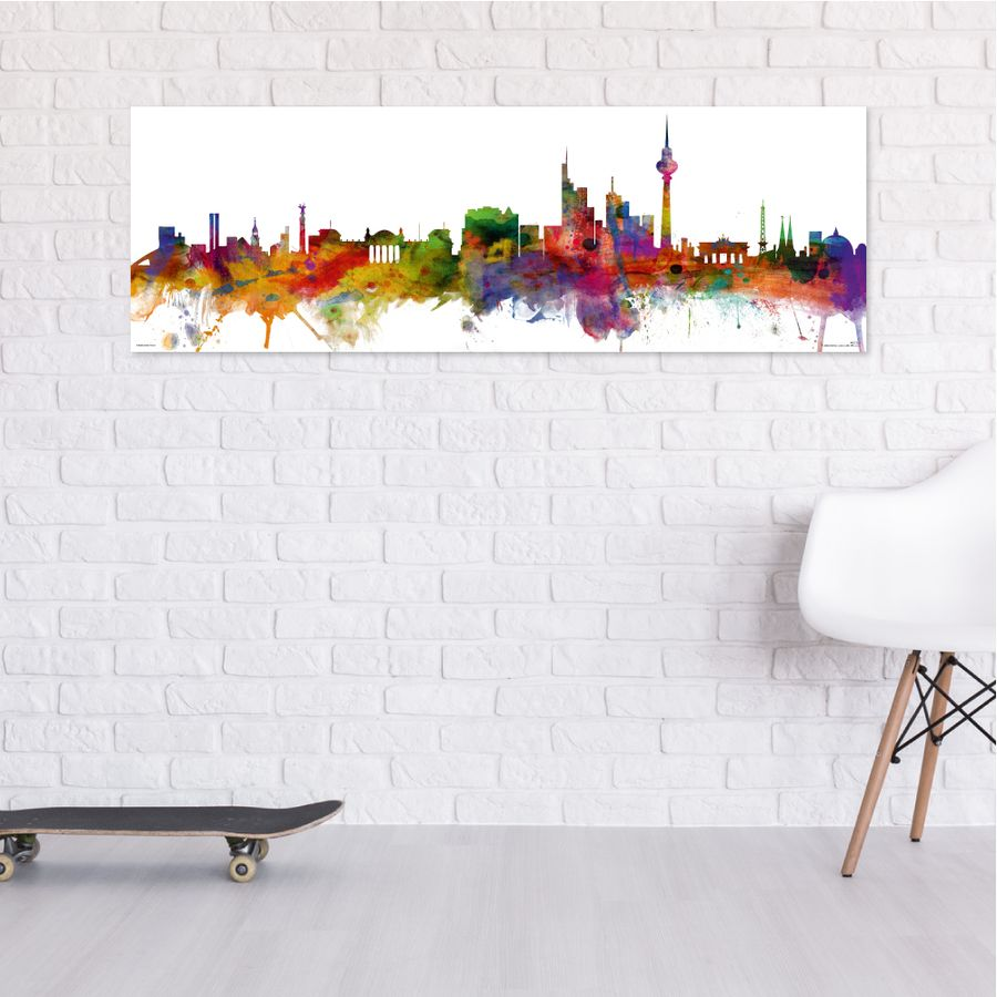 berlin skyline poster von michael tompsett bei close up entdecken. Black Bedroom Furniture Sets. Home Design Ideas