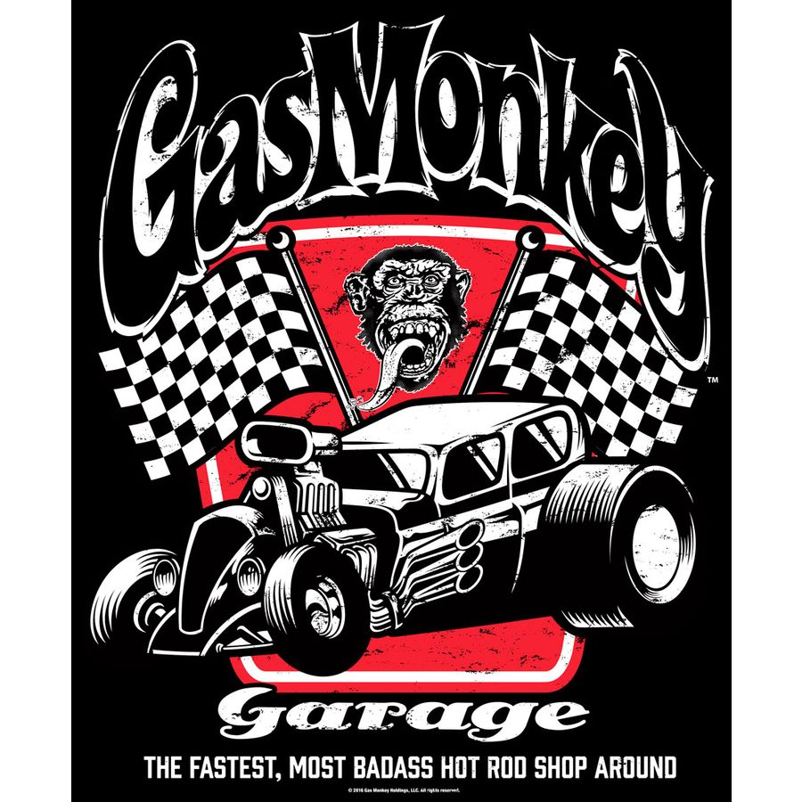 badass gas monkey garage t shirt bei close up im online shop. Black Bedroom Furniture Sets. Home Design Ideas