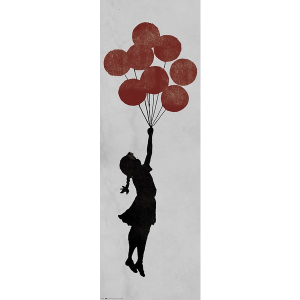 Banksy Poster Girl Floating